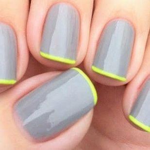 Cinza com neon.