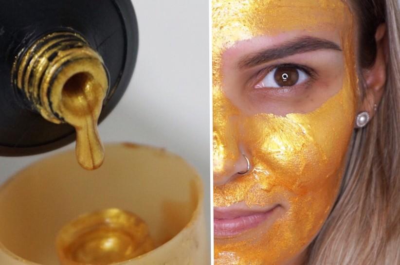 Máscara Dourada Toque de Natureza